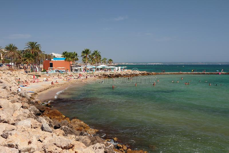 Praia do Anima Palma de Maiorca, Espanha imagem de stock