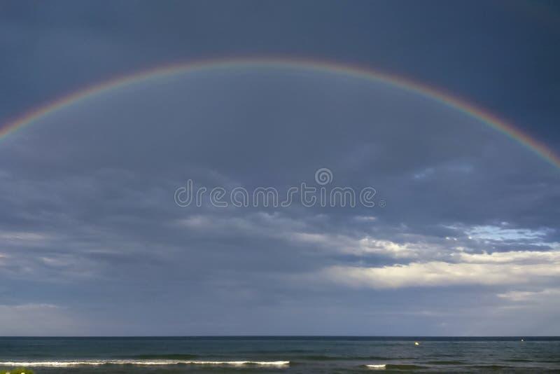 Praia do arco-íris imagens de stock
