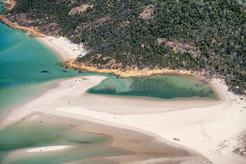 Praia do avião, Queensland de Whitehaven do céu foto de stock