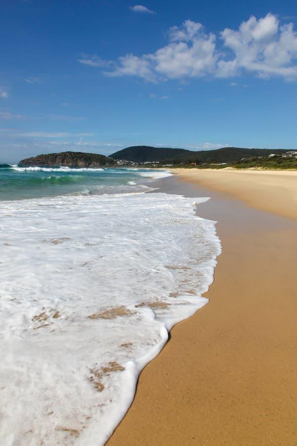 Praia do Bumerangue - Forster NSW Austrália imagens de stock royalty free