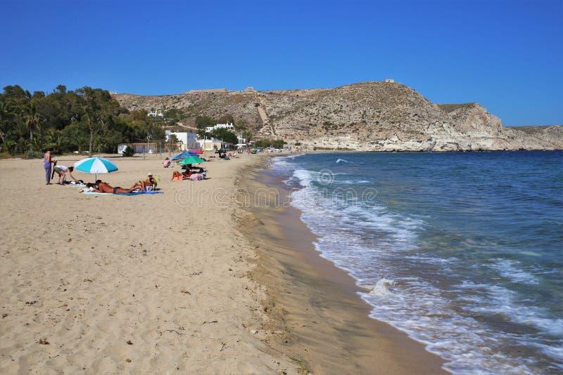 Praia do cabo de gata Nijar Almeria Andalusia Spain de Aguamarga foto de stock
