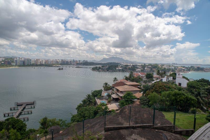 Praia do Canto Vitoria Brazil Hotel Senac Holidays Pier Sol Beach. Hotel Senac Holidays Pier Sol Beach stock image