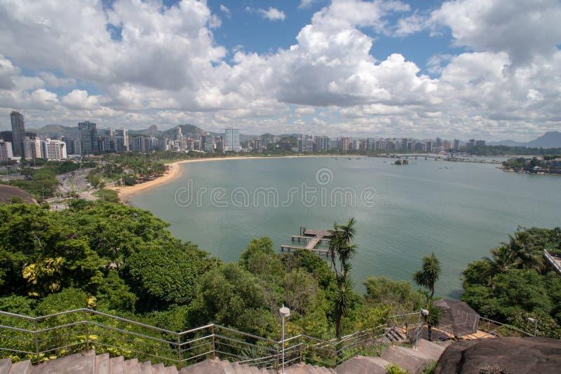 Praia do Canto Vitoria Brazil Hotel Senac Holidays Pier Sol Beach. Hotel Senac Holidays Pier Sol Beach stock images
