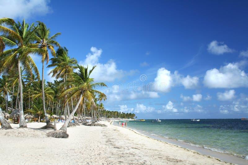 Praia do Cararibe do recurso imagens de stock