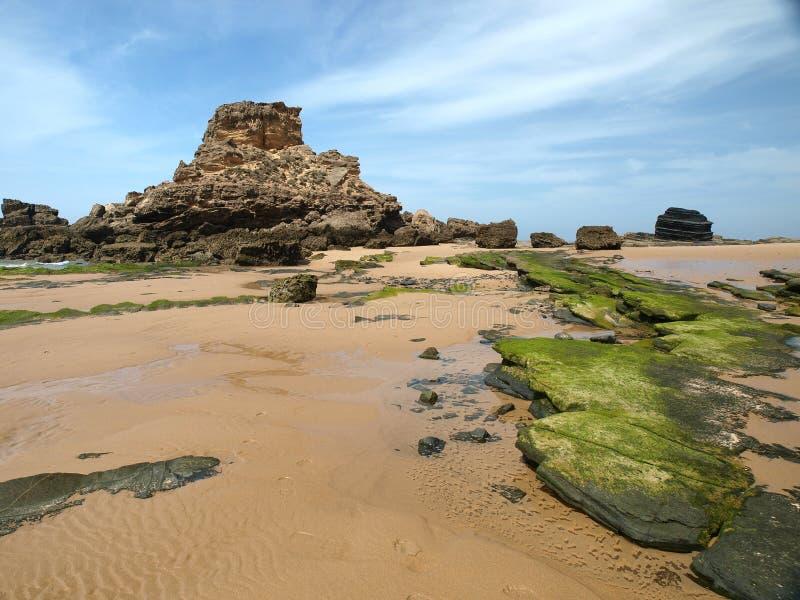 Praia do Castelejo, κοντά Vila Do Bispo, Αλγκάρβε στοκ φωτογραφίες