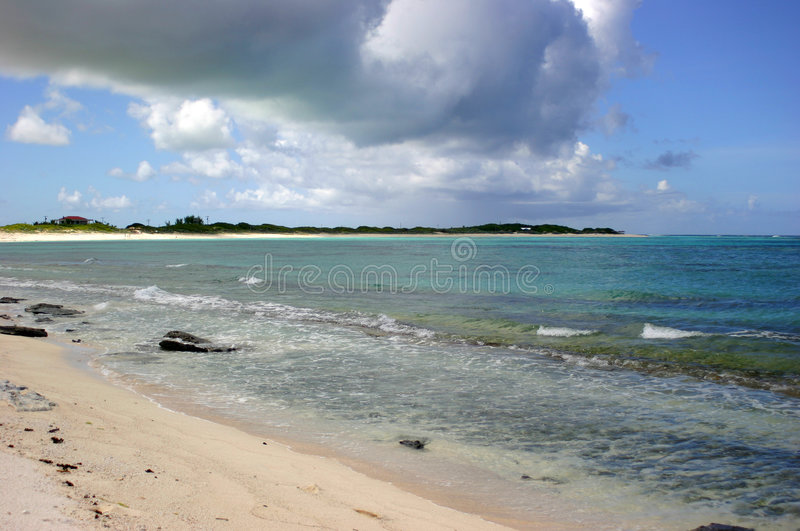 Praia do console de Anagonda foto de stock