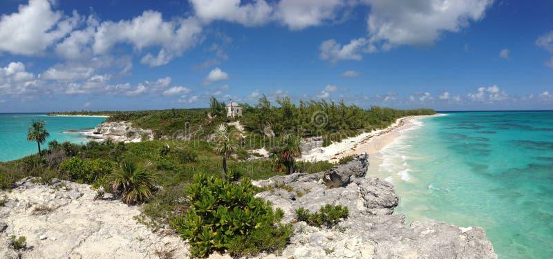 Praia do farol, Eleutéria, o Bahamas imagem de stock