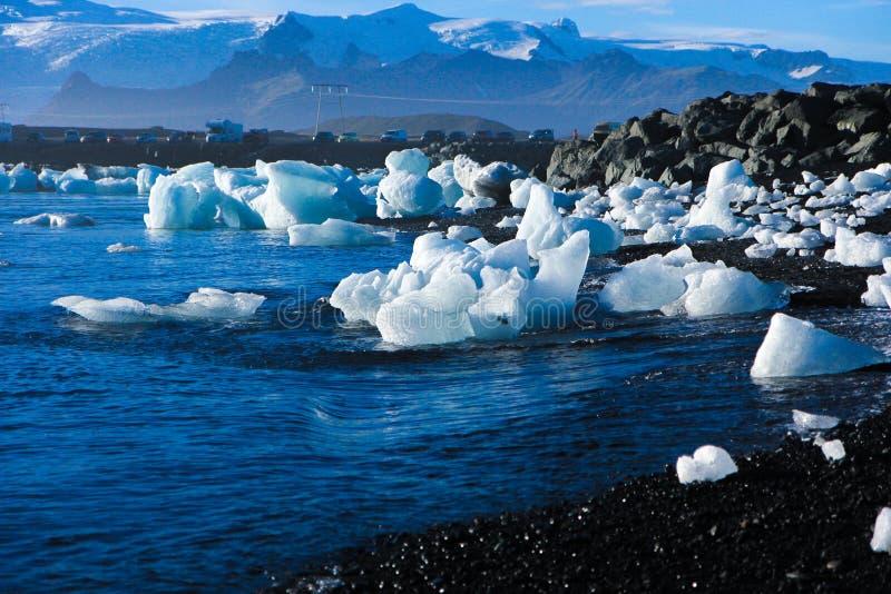 Praia do gelo em Islândia fotos de stock royalty free