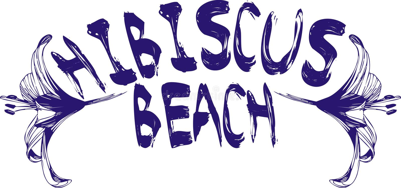 Praia do hibiscus ilustração stock