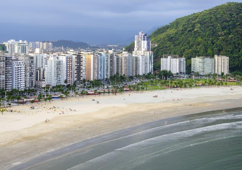 Praia do Itarare, Sao Vicente SP Brasilien royaltyfri bild