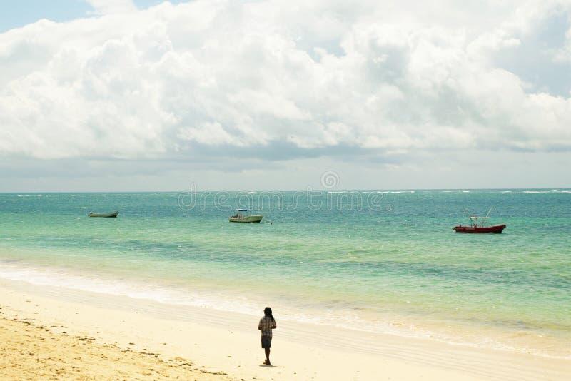 Praia do Kenyan foto de stock royalty free