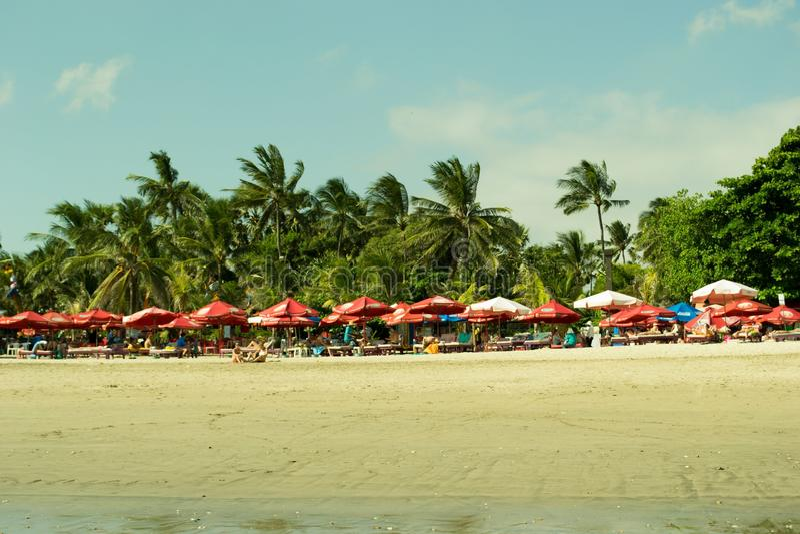 praia do kuta fotografia de stock