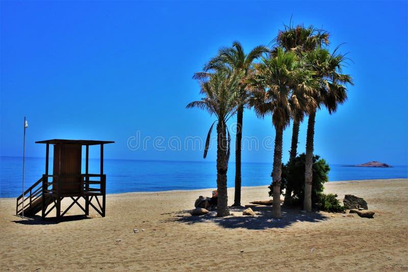Praia do Lancon de Carboneras Almeria Andalusia Spain fotos de stock royalty free
