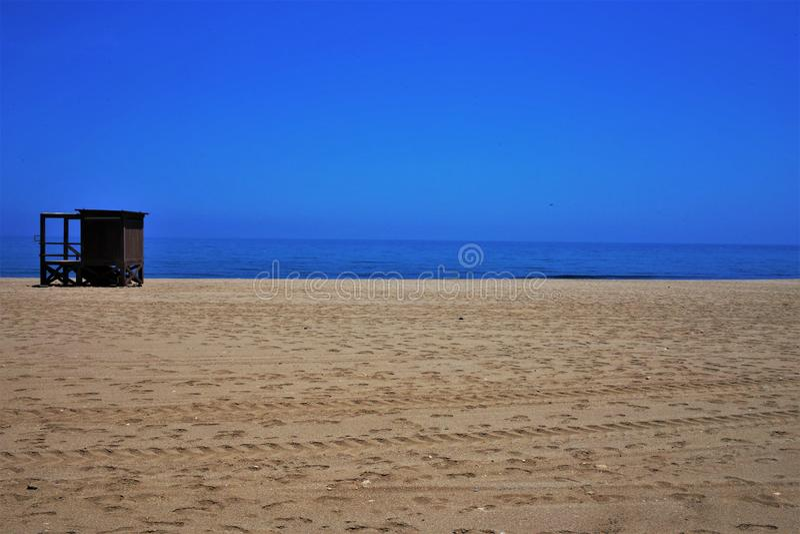 Praia do Lancon de Carboneras Almeria Andalusia Spain fotografia de stock royalty free