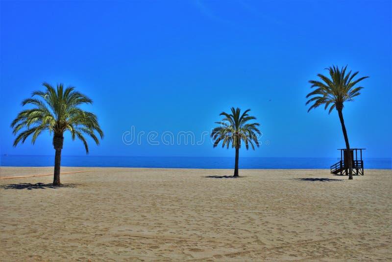 Praia do Lancon de Carboneras Almeria Andalusia Spain imagens de stock royalty free