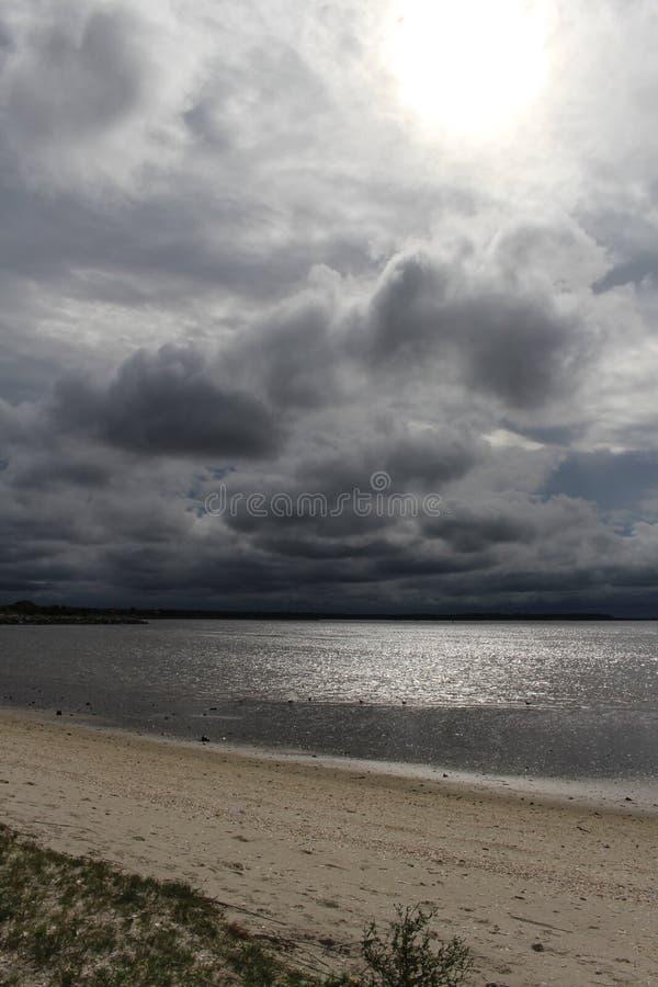 Praia do litoral inter foto de stock royalty free