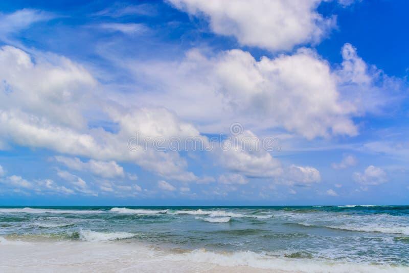 Praia do mar em Sunny Daylight imagem de stock