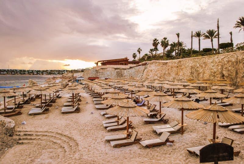 Praia do Mar Vermelho, Hurghada, Egito imagem de stock royalty free