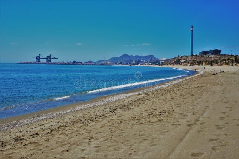 Praia do Marinicas de Carboneras Almeria Andalusia Spain fotografia de stock royalty free