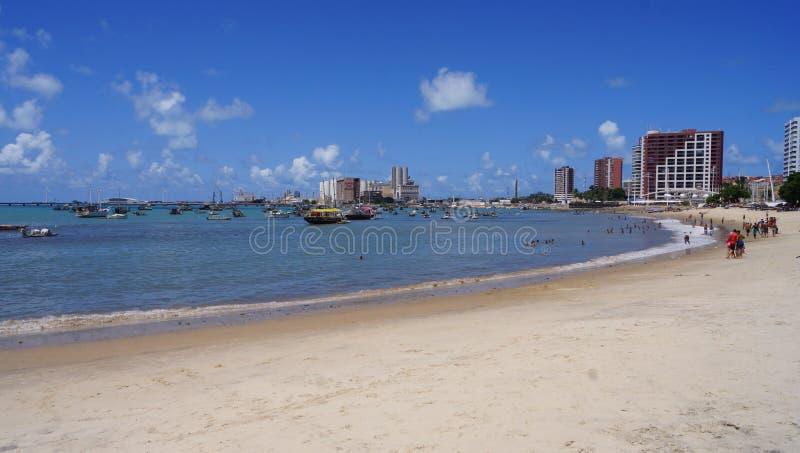 Praia do NÃ ¡ utico stock foto's