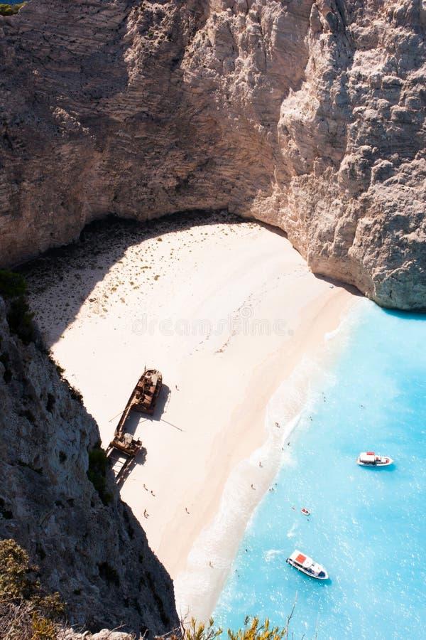 Praia do naufrágio imagens de stock royalty free