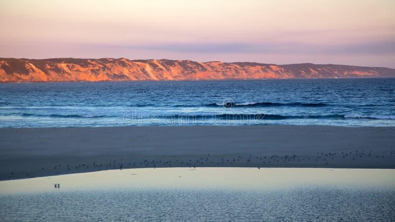 Praia do oceano fotografia de stock