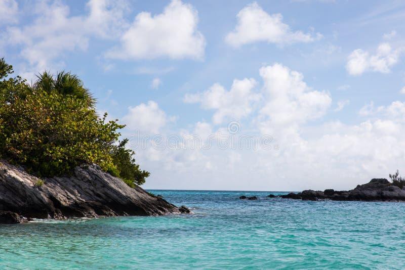 Praia do oceano de Bermuda fotografia de stock royalty free