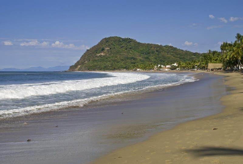 Praia do Oceano Pacífico em México imagens de stock royalty free