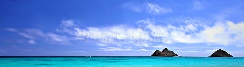 Praia do panorama imagens de stock