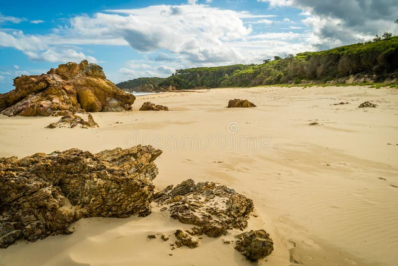 Praia do paraíso de Mallacoota em Austrália no verão imagens de stock royalty free
