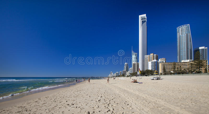 Praia do paraíso dos surfistas no Gold Coast imagem de stock royalty free