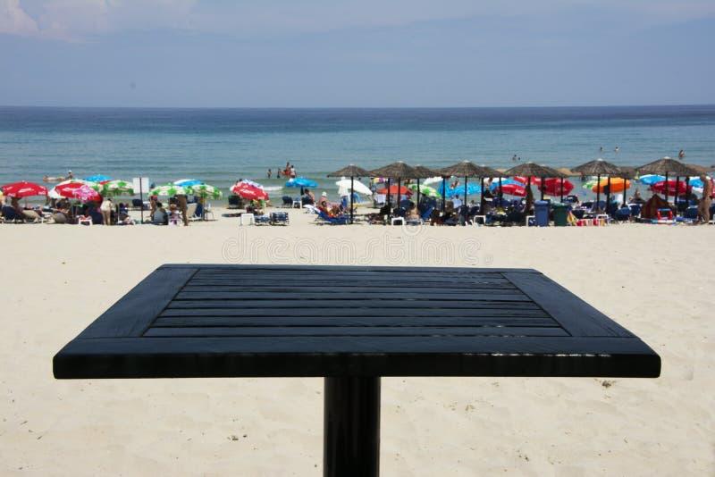 Praia do paraíso na ilha de Thassos fotos de stock
