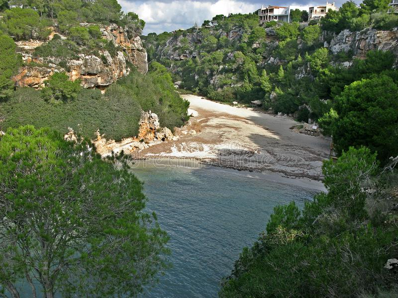 Praia do pi de Cala, Mallorca fotos de stock royalty free