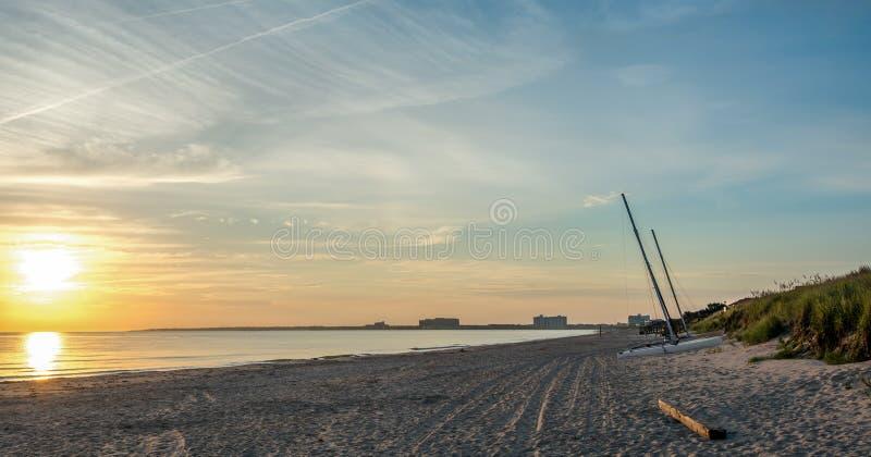 A praia do pintainho, Va. imagens de stock royalty free