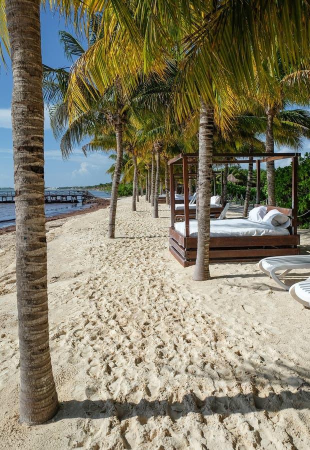 Praia do Playa del Carmen, México imagens de stock