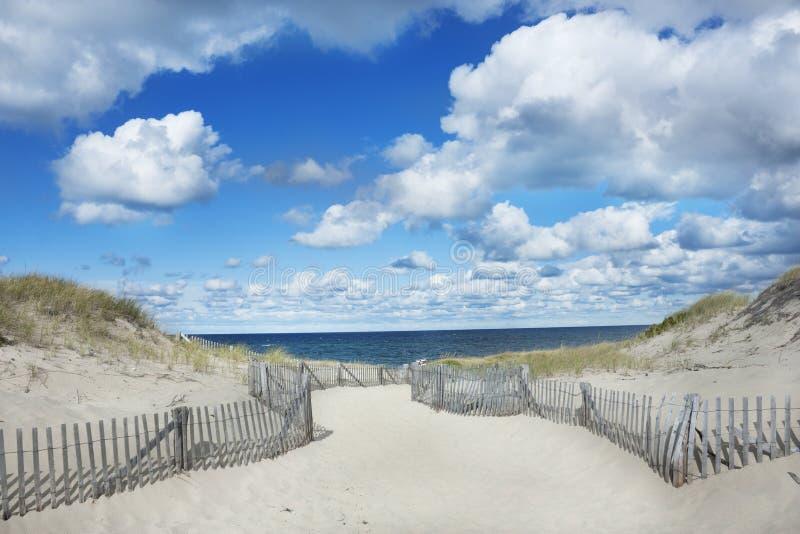 Praia do ponto da raça, Provincetown Massachusetts imagens de stock