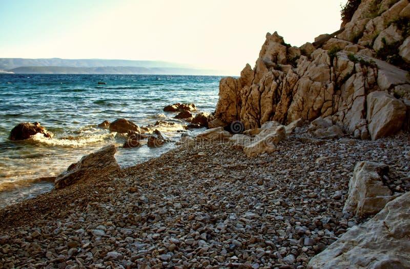 Praia do por do sol fotos de stock royalty free