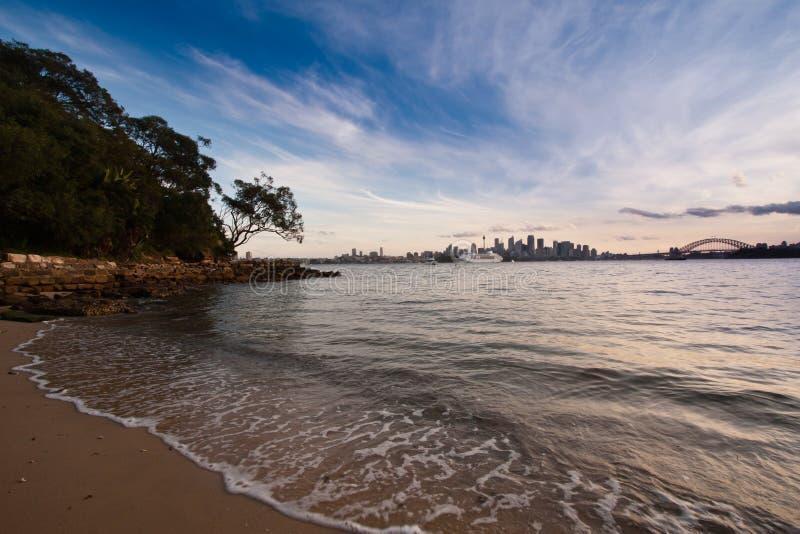 Praia do porto de Sydney fotos de stock