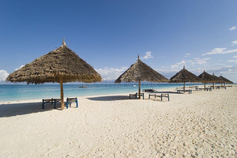 Praia do recurso de Zanzibar foto de stock