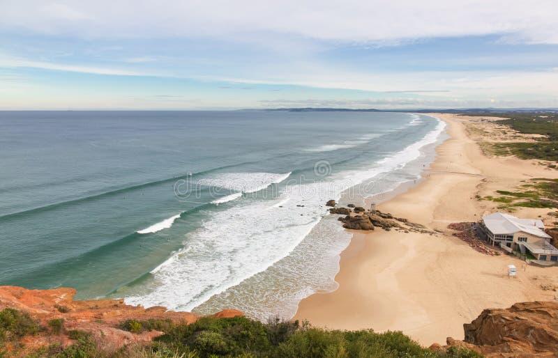 Praia do Redhead - Newcastle Austrália foto de stock