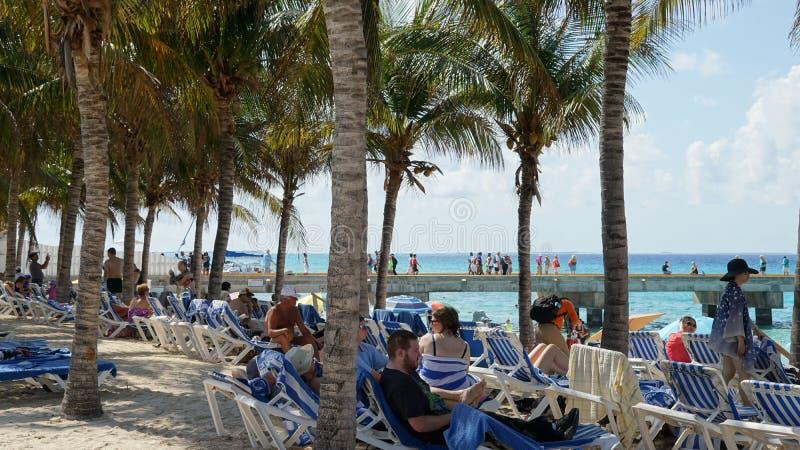 A praia do regulador em Turk Island grande foto de stock