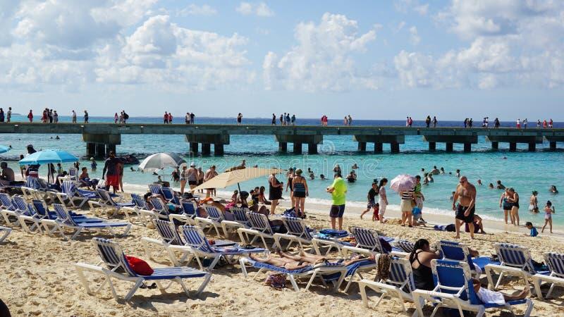 A praia do regulador em Turk Island grande fotos de stock