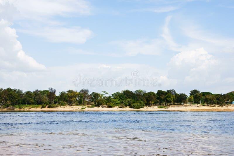 Praia do rio foto de stock
