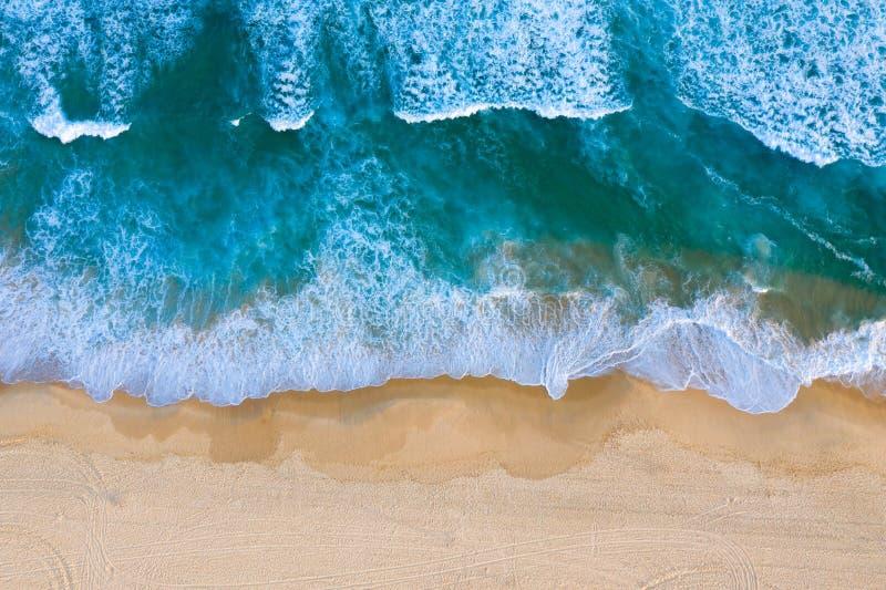 Praia do ruivo da vista aérea - Newcastle Austrália foto de stock