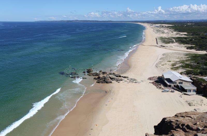 Praia do ruivo - Newcastle Austrália fotografia de stock royalty free