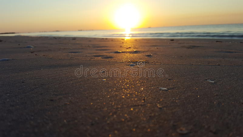 praia do sol do nascer do sol fotos de stock royalty free