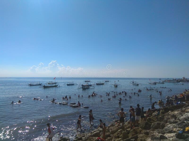 Praia do terbit de Matahari imagem de stock