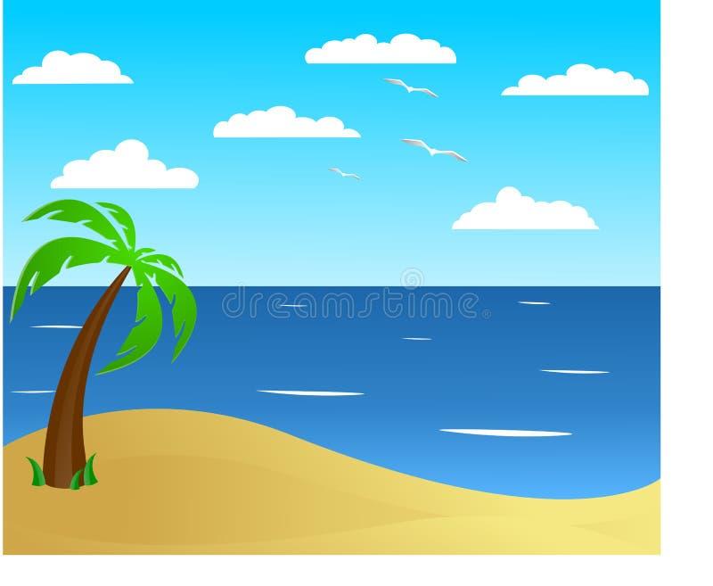 Praia do verão ilustração stock