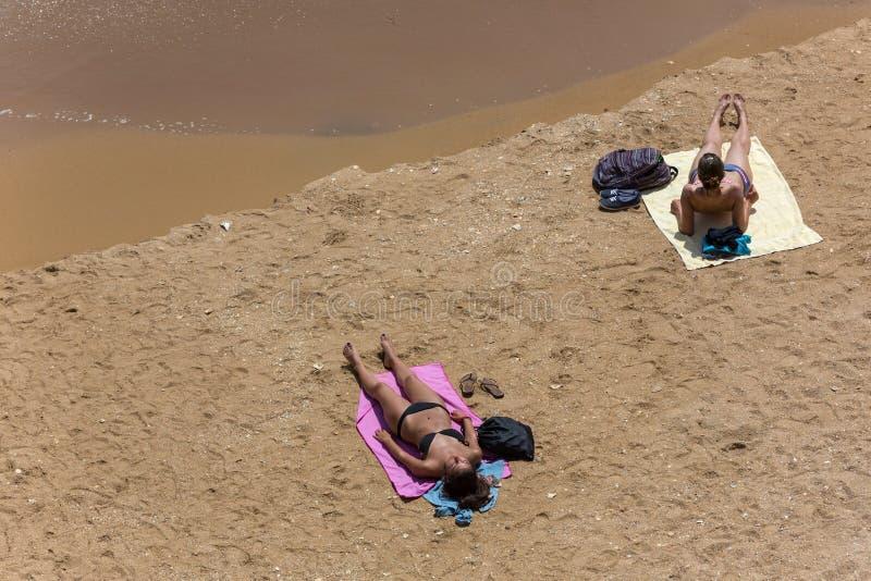 Praia Dona Ana lizenzfreies stockfoto