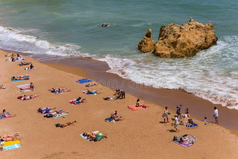 Praia Dona Ana lizenzfreie stockfotos
